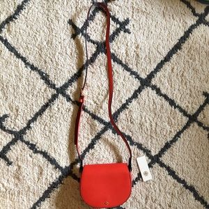 Auth Tory Burch Poppy Red Mini Saddles Crossbody
